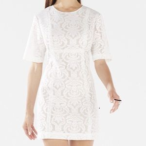 BCBG MAX AZRIA CEARA Wide-Sleeve Lace Dress